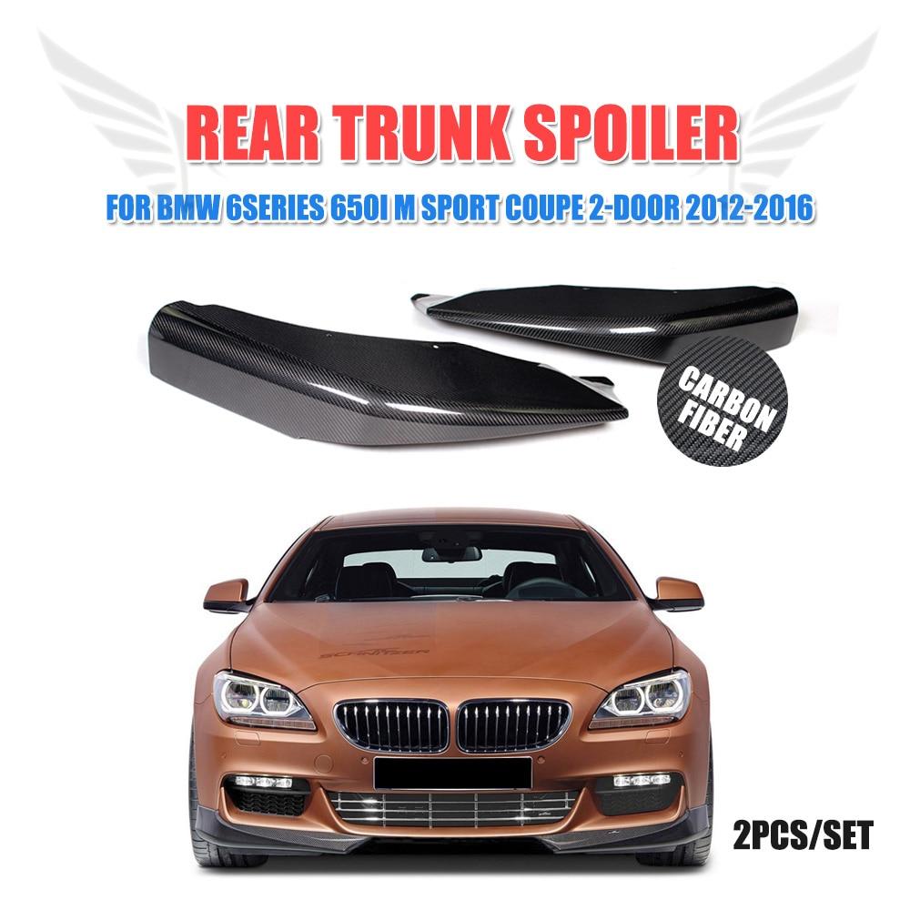 2PCS/Set Carbon Fiber Front bumper Lip splitters for BMW F06 F12 F13 M Sport 2012 - 2016 Convertible 650I Non M6