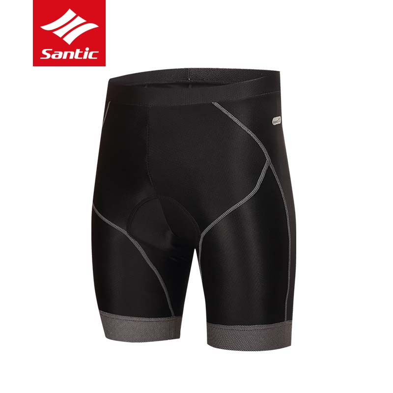 Santic Padded Cycling Shorts Men Tour De France Pro Gel Pad Road Bike Bicycle Shorts Downhill MTB Shorts Black Culotte Ciclismo boi silica gel padded bicycle men shorts