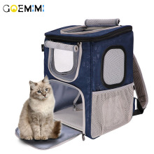 Portable Breathable Grid Bag Pet Cat Out Carrying Mesh Carrier Backpack For Small And Medium Dogs Cats