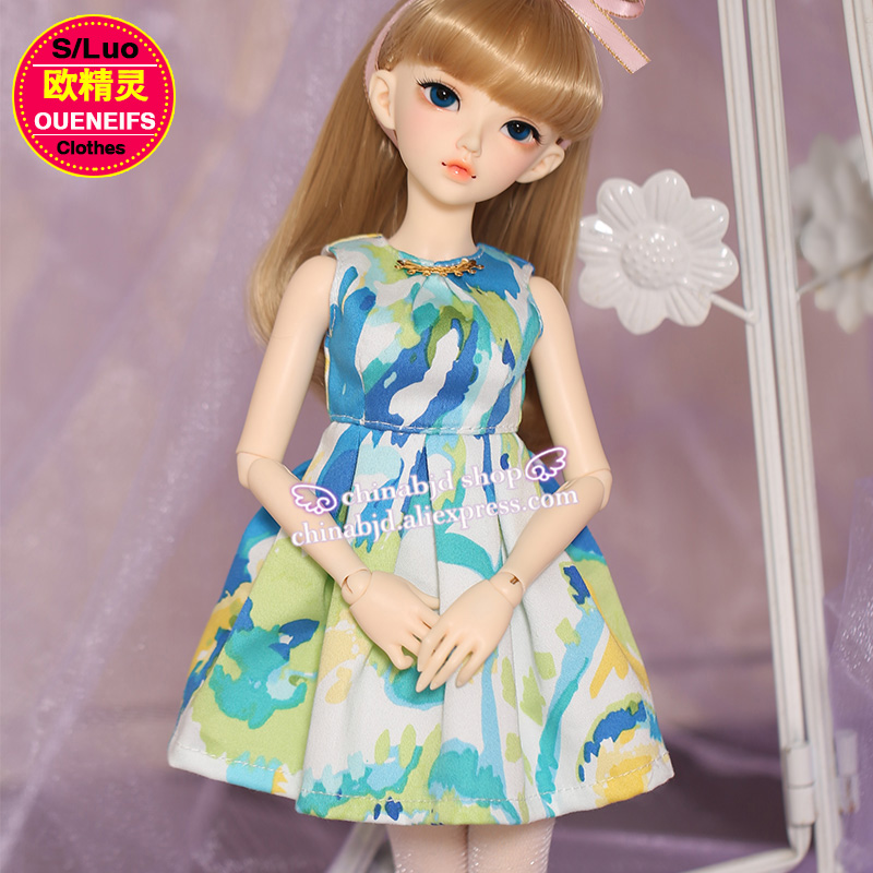 OUENEIFS free shipping floral dress fashion show thin,little fresh style 1/4 bjd/sd doll clothes,no doll or wig YF4-132 1 4 1 3 bjd doll clothes soom british style retro uniforms series seven