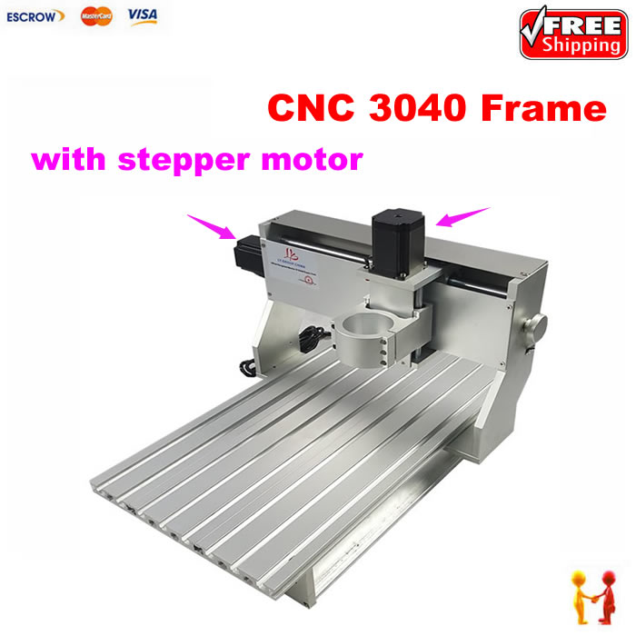 CNC Milling Machine aluminum spare parts 3040 CNC frame router With stepper  motor and limit switch 86f02954fc07