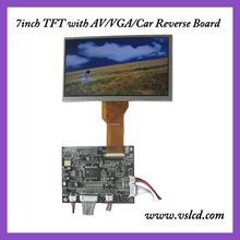 7 pulgadas WVGA módulo lcd tft a color con 800×480 de resolución revertir AT070TN92 + VGA $ number AV tablero de conductor cambiar automáticamente a AV2