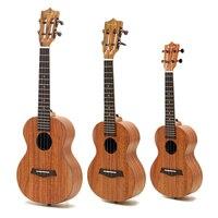 Enya 21 23 26 Inch Full Board HPL Koa Ukulele Classical Head without Pickup Stringed Instruments Ukulele mini guitar