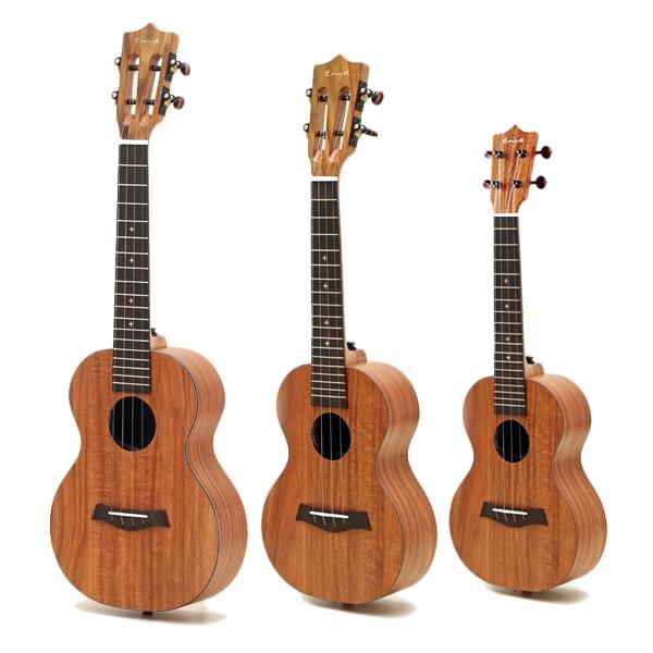 Enya 21 23 26 pouces pension complète HPL Koa ukulélé tête classique sans micro Instruments à cordes ukulélé mini guitare
