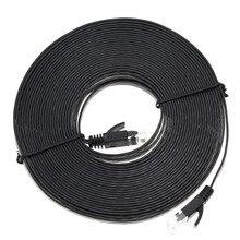 1 м/3 м/5 м/10 м RJ45 Ethernet-кабели без каблука Cat6 UTP Ethernet Интернет кабельной сети кабель RJ45 патч кабель LAN разъем Черный