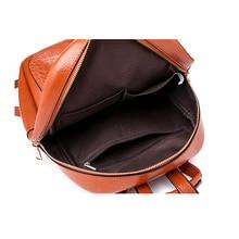 Luxury Crocodile Skin Patterned Leather Women's Backpack