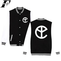 LUCKYFRIDAYF Fashion BTS Kpop Yellow Claw Winter Softshell Jacket Men Casual Baseball Jackets Funny Homme Hip