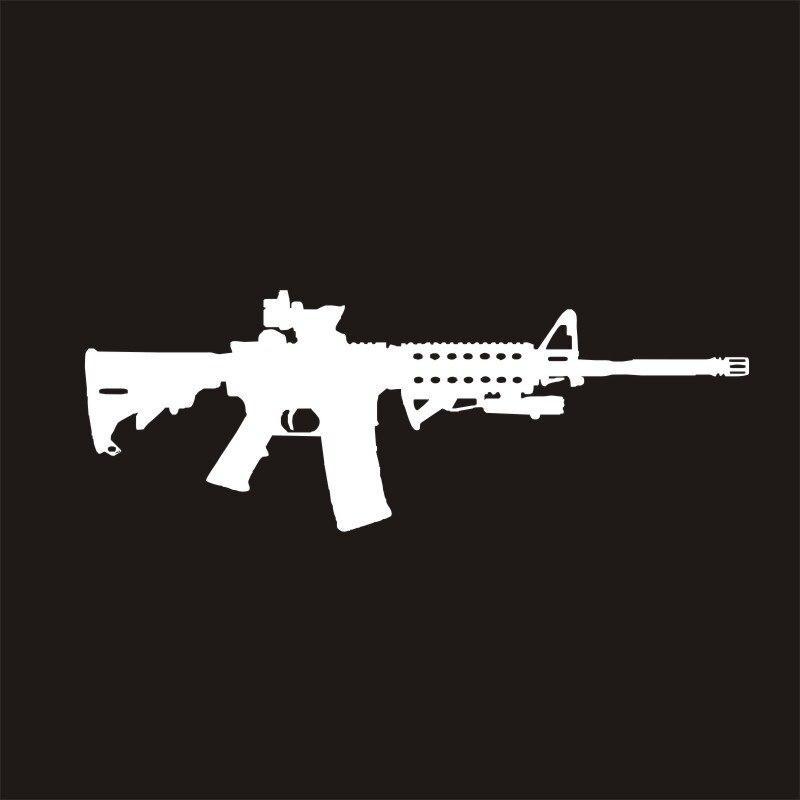 TOARTI 16,5x6 см AR-15 ПВХ Водонепроницаемый автомобиля Стикеры