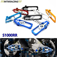 CNC Aluminum Left Right Chain Adjusters With Spool Tensioners Catena For BMW S1000RR 2009 2010 2011