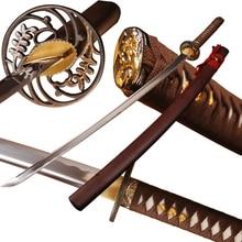 Brandon Swords Handmade Samurai Katana 1060 Carbon Steel Sharp Sword Battle Ready Full Tang Training Samurai Katana Home Decor