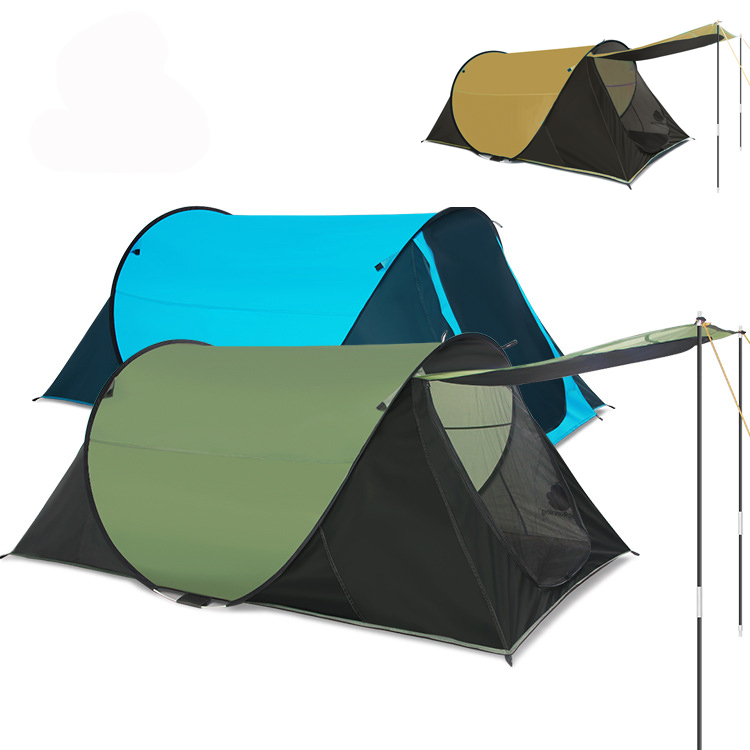 fast speed quick open full automatic tent outdoor beach lovers camping 12 people shade - Quick Shade