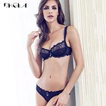 81caa5f65f New Sexy Bra Panties Sets Plus Size Brassiere Ultrathin Underwear Set  Transparent Bras Women Lace Lingerie