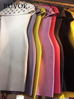 Newest Deep Grey Black Yellow Red Pink White Hollow Out Cap Sleeve Rayon Casual Party Bandage