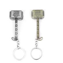 The Avengers Key Chain Thor Hammer Mjolnir KeyRings Gift Chaveiro Car Keychain Jewelry Game Key Holder Souvenir Thor's hammer