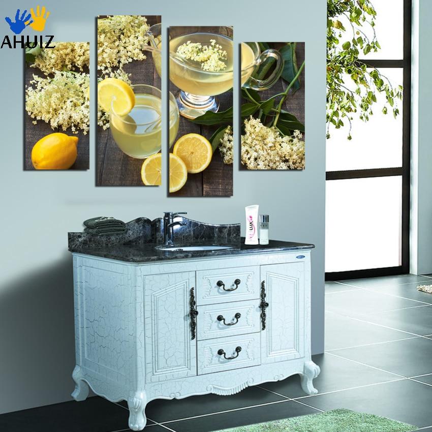 trasporto libero del fiore frutta limone picture art pittura su stampe su tela soggiorno cucina decorazione