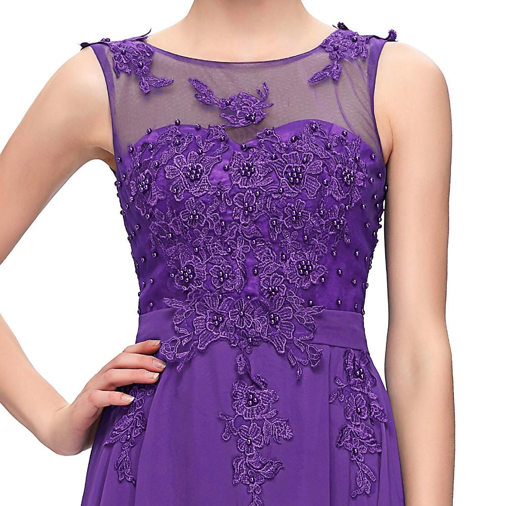 Grace Karin Elegant Long Evening Dresses 2016 Chiffon Pink Purple Red Royal Blue Black Formal Evening Dress Gown Abendkleider 32