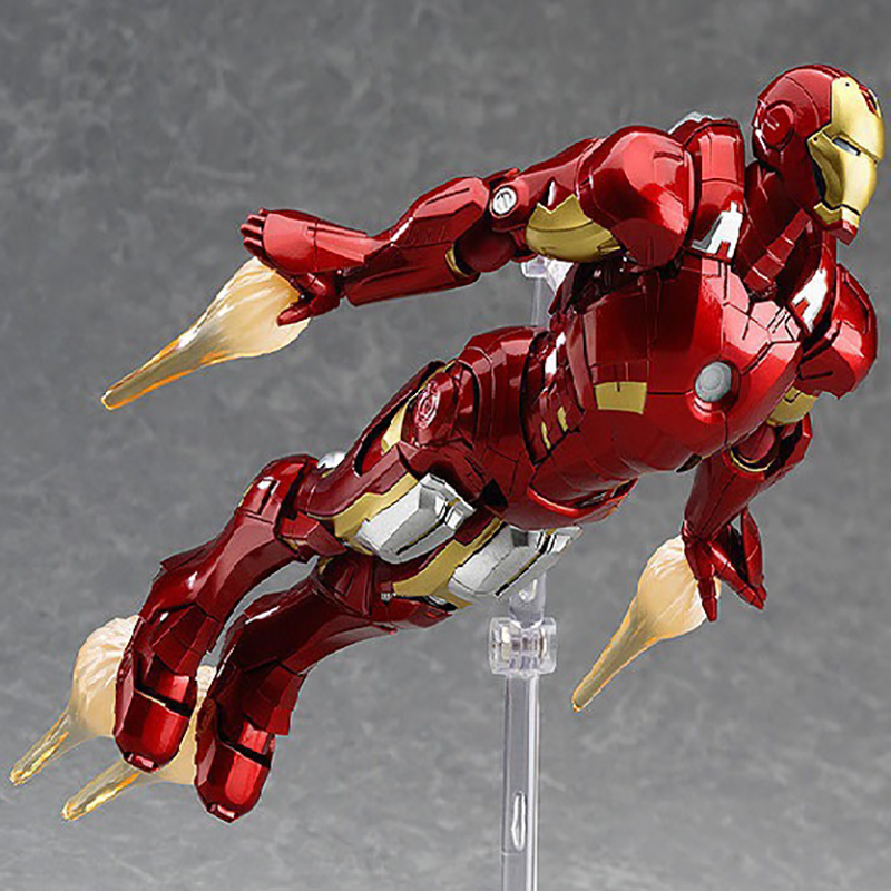 The Avengers 2 Action Figure Movable Iron Man Figma #217 Doll PVC Action Figure Collectible Model Toy 16cm KT3537 anime cardcaptor sakura figma kinomoto sakura pvc action figure collectible model toy doll 27cm no box