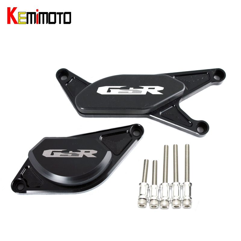 KEMiMOTO Engine Guard Stator Cover Slider Protector for SUZUKI GSR750 GSR 750 GSR600 GSR400 GSR600 GSR 600 GSR 400 600 2006-2012 new adjustable foldable extendable motorbike brakes clutch cnc levers for suzuki gsr 750 11 14 gsr 600 06 11 gsr 400 08 12 1