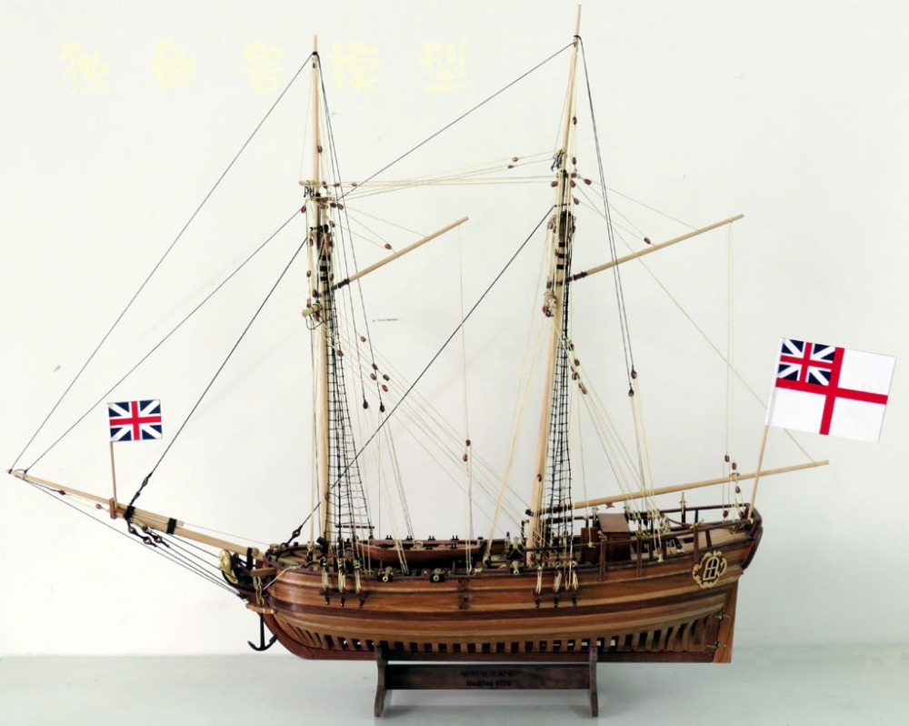 Full Ribs Wooden Ship Model Scale 1 50 H M S Halifax 1775 ship model kits
