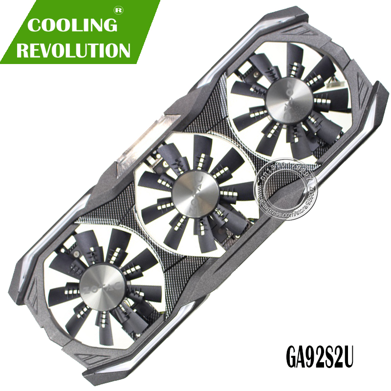 GPU VGA cooler graphics card gtx 1080 Fan GA92S2U For ZOTAC GTX1080 eth mining Video Card Cooling image