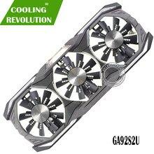 Dc12v 4pin gpu vga placa gráfica gtx 1080 fã ga92s2u para zotac gtx1080 eth mineração placa de vídeo refrigeração