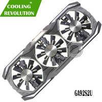 Gpu vga placa gráfica refrigerador gtx 1080 fã ga92s2u para zotac gtx1080 eth mineração placa de vídeo refrigeração