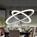 Modern 2 Ring 12W Led Pendant Light Kitchen Living Room Dining Room Adjustable Hanging Acrylic Rope Lamp Home Lighting 220V