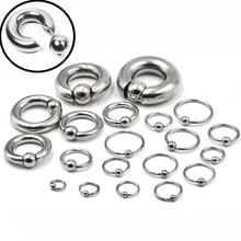 1 шт., большие кольца-кольца из нержавеющей стали BCR, пирсинг для бровей, пирсинг для ушей, для носа, для сосков, для губ, большие ювелирные изделия для тела