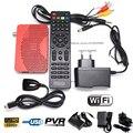 HD 1080 P DVB-S DVB-S2 Receptor de Satélite Digital Mini Tamanho Apoio IKS wi-fi Internet Cccam Vu Poder Biss Key Set Top caixa
