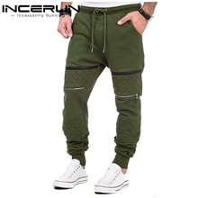 INCERUN S-3XL Mens Thicken Cotton Fleece Liner Sweatpants Winter Warm Joggers Casual Velvet Padded Long Sweats Pants Trousers