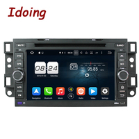Idoing 7Steering Wheel Dual 2Din Androi 8.0/7.1 For Chevrolet AVEO/EPICA/LOVA 8Core 4G+32G GPS Navigation Bluetooth Radio Video