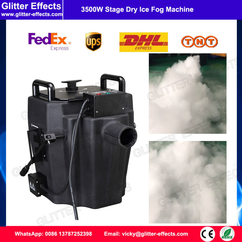 3500W Ground low fog water Dry Ice Smoke Machine For stage wedding party недорого