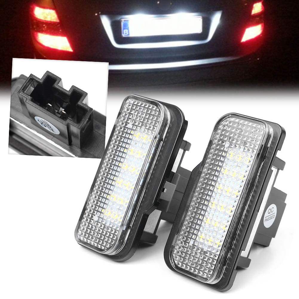 For <font><b>Mercedes</b></font>-Benz C-Class W203 <font><b>E</b></font>-Class W211 <font><b>S211</b></font> CLS-Class SLK-Class LED license Number Plate Light Lamp Lighting CE 2PCS image
