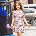 2017 Summer Baby Girls Cotton Frock Designs Dresses for Kids Girl Clothing Wholesale Kids Clothes Age 7-15T