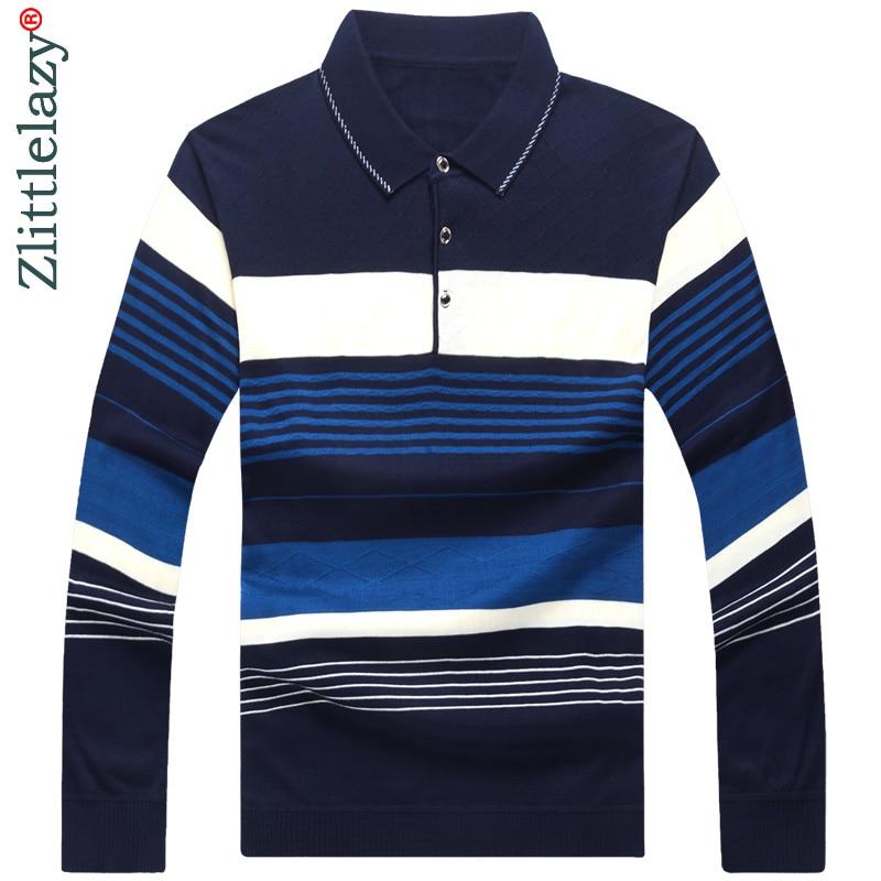 2018 long sleeve striped   polo   shirt men cotton streetwear   polos   shirts mens dress tee shirt poloshirt camisa pol clothes 5567