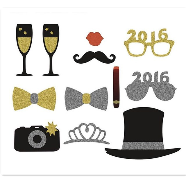 wedding photo booth props theme party decorations supplies glasses mask mustache for christmas new year birthday
