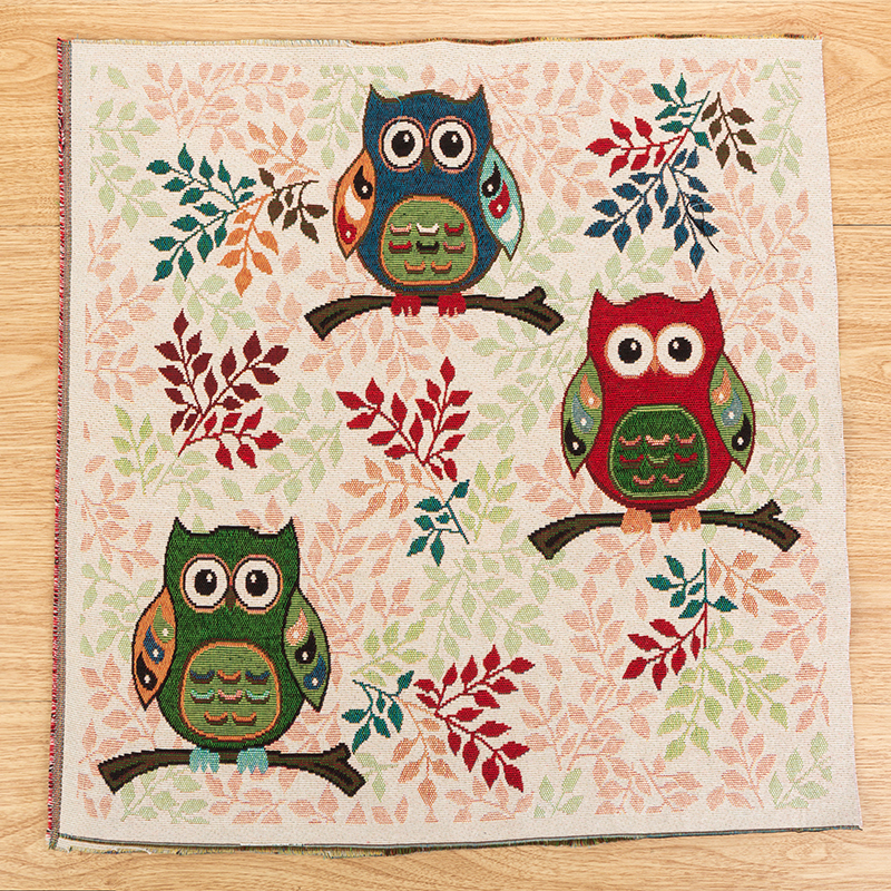 Cartoon Owl Printed linen Cotton Fabric Table cloth for Diy Sewing Patterns Crafts Fabric Printed Material Patchwork Textile