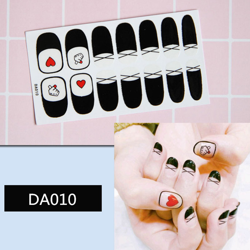 Instant Nail Art Sticker Nails Wrap Foil Nail Art DIY Sticker Manicure Decor Tips JIU55 in Stickers Decals from Beauty Health