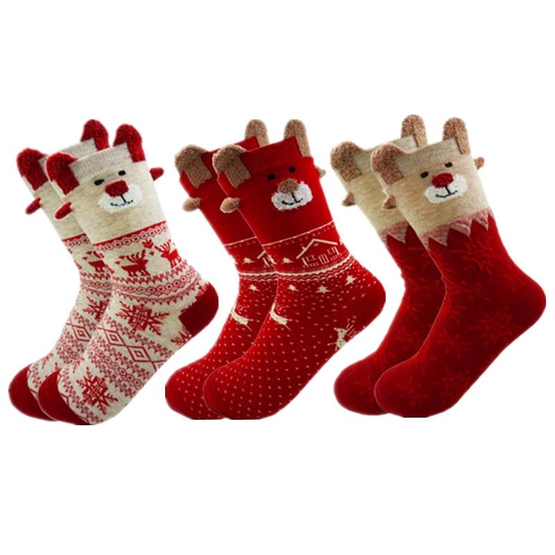 Neue 2018 Frauen Socke Winter Warme Weihnachten Geschenke Stereo ...