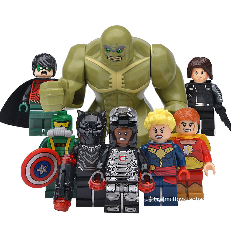 Superhero Collection Abomination Robin Ms. Marvel Black Panther War Machine Hyperion Block Figure Toys Compatible With Lego game of thrones house sigils