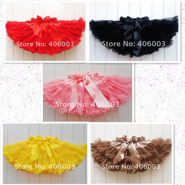 fashion kids children fluffy chiffon pettiskirts tutu baby girls skirts princess skirt ruffle dance party tutu free shipping