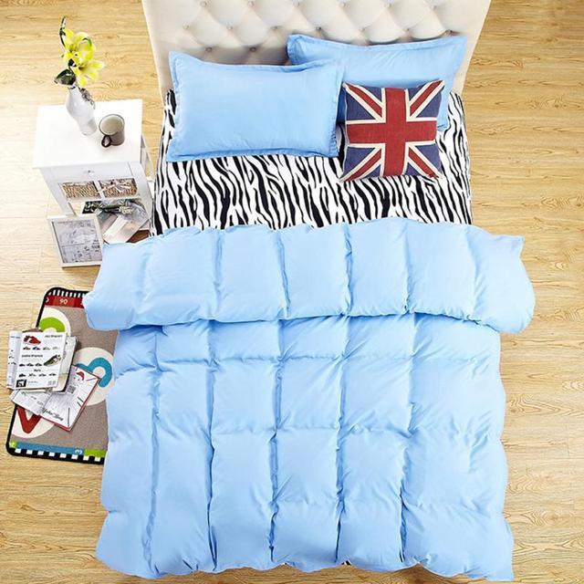 Bedding Set Parure De Lit Warna Murni King Size Cotton Cover Set