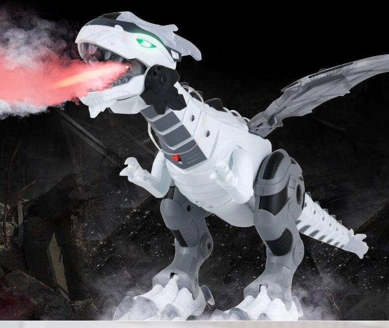 2019 Nouveau Électrique interactive Dinosaures jouets Sondage et Marche Pulvérisation Simulation Dinosaures Enfants Jouets Cadeaux De Noël