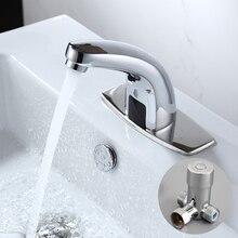 Горячей и Холодной Ванной Автоматический Сенсорный Бесплатный Датчик Смесители экономии воды Индуктивный электрический Кран Воды смеситель батареи HZY-21