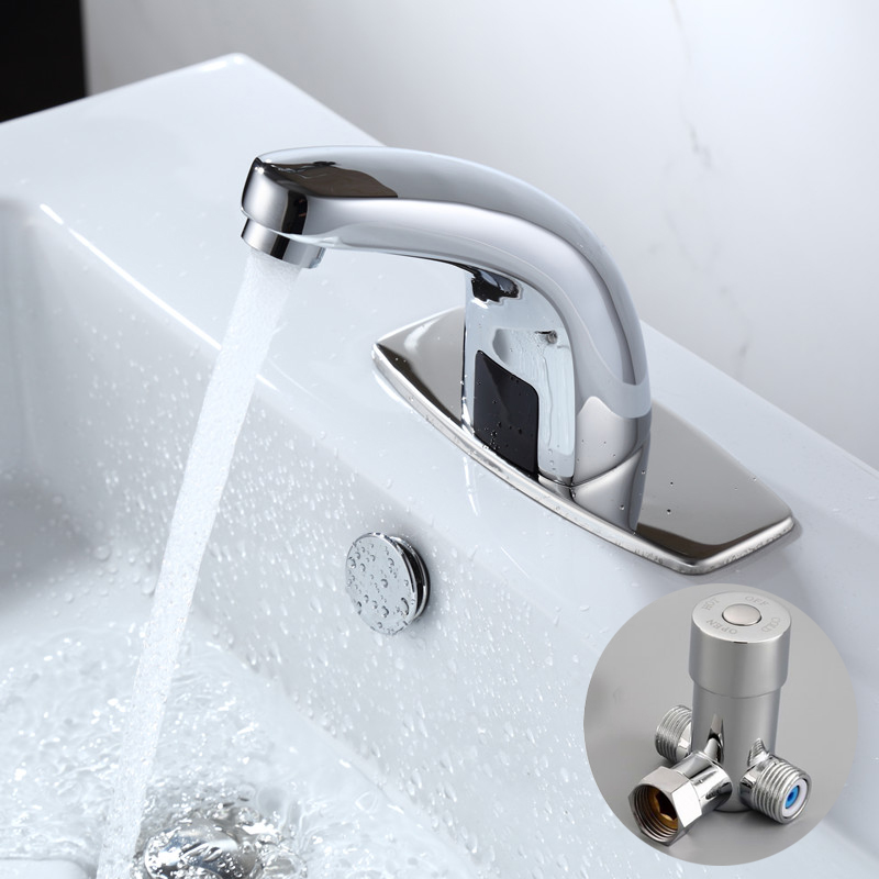 hot u0026 cold bathroom automatic touch free sensor faucets water saving inductive electric water tap mixer