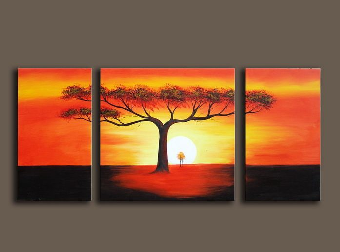 3pieces Modern Abstract Huge Wall Art Oil Painting On: 3 Piece Abstract Modern Canvas Wall Art Picture Hand