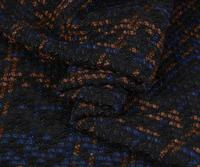 Black Plaid weaving thick wool cashmere fabric coat ,printing Textile hollandais african sequin Christmas cloak fabric A152