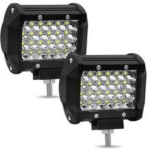 4 Cal 72 W cztery rzędy Led Light Bar 6000 K 7200LM pracy samochodu światła do jazdy dziennej światła zmodyfikowany Off  Road oświetlenie dachowe