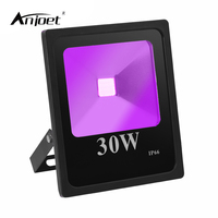 ANJOET 30W Blacklight UV LED FloodLights 110V 220V IP66 WaterproofUltraviolet Detection Floodlamp for Halloween Party Curing