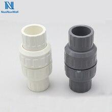 NuoNuoWell PVC Water Pipe Check Valve Socket Union Non-Return Quick Coupler Slip X Slip NEW Schedule 20/25/32/40/50/63mm